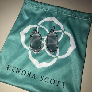 Silver Kendra Scott Elle earrings